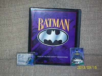 Batman Saga of the Dark Knight complete trading card set in binder