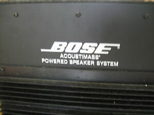 un bose acoustimass powered speaker system Québec City Québec image 5