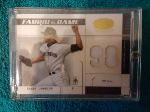 2003 Leaf Certified Fabric of the Game used  RANDY JOHNSON GU Jersey card #10/98