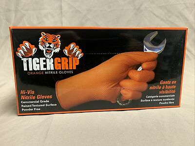 Tiger Grip Orange Nitrile Gloves Xx-large - 90 Pieces