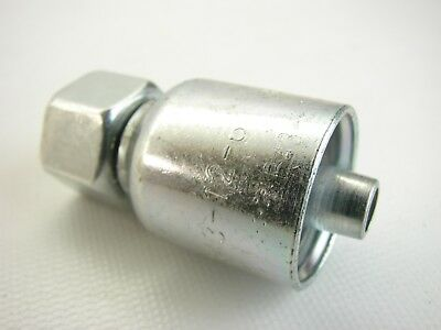 Parker 1c343-12-6 12 Female Metric L X 38 Id Straight Ball Nose Hose Fitting