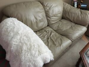 Leather couch and love seat trade for sectional