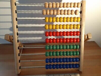 Colorful Wooden Fold Up Abacus Childrens Toy IKEA