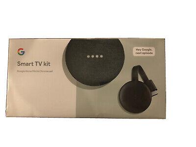 Brand New Google Smart TV Kit Google Home Mini + Chromecast 3rd Gen Streamer