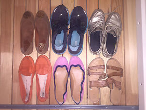 Lot of 6 pairs of shoes, size 8. Good-excellent condition