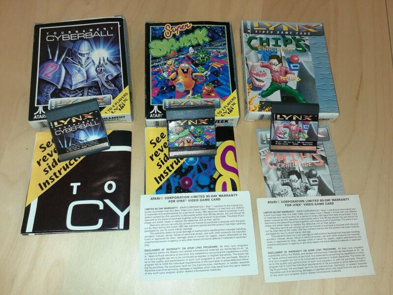 Atari Lynx games bundle CIB
