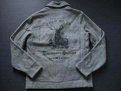 Polo Ralph Lauren Hombre Vintage Ciervo Estampado Jacquard Cazadora L