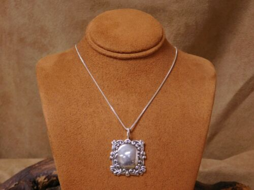 Vintage Sterling Silver Frame Necklace by T. Foree