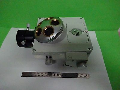 Microscope Part Leitz Germany Nosepiece Vertical Illum Optics As Is Binw7-95