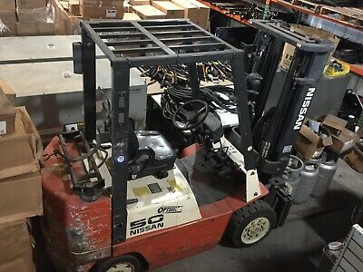 Nissan 50 Forklift Propane Mod Cpj02a25pv 4400 Lbs 15 Lift 6494 Hours