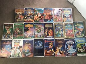 39 VHS movies, mostly Disney movies
