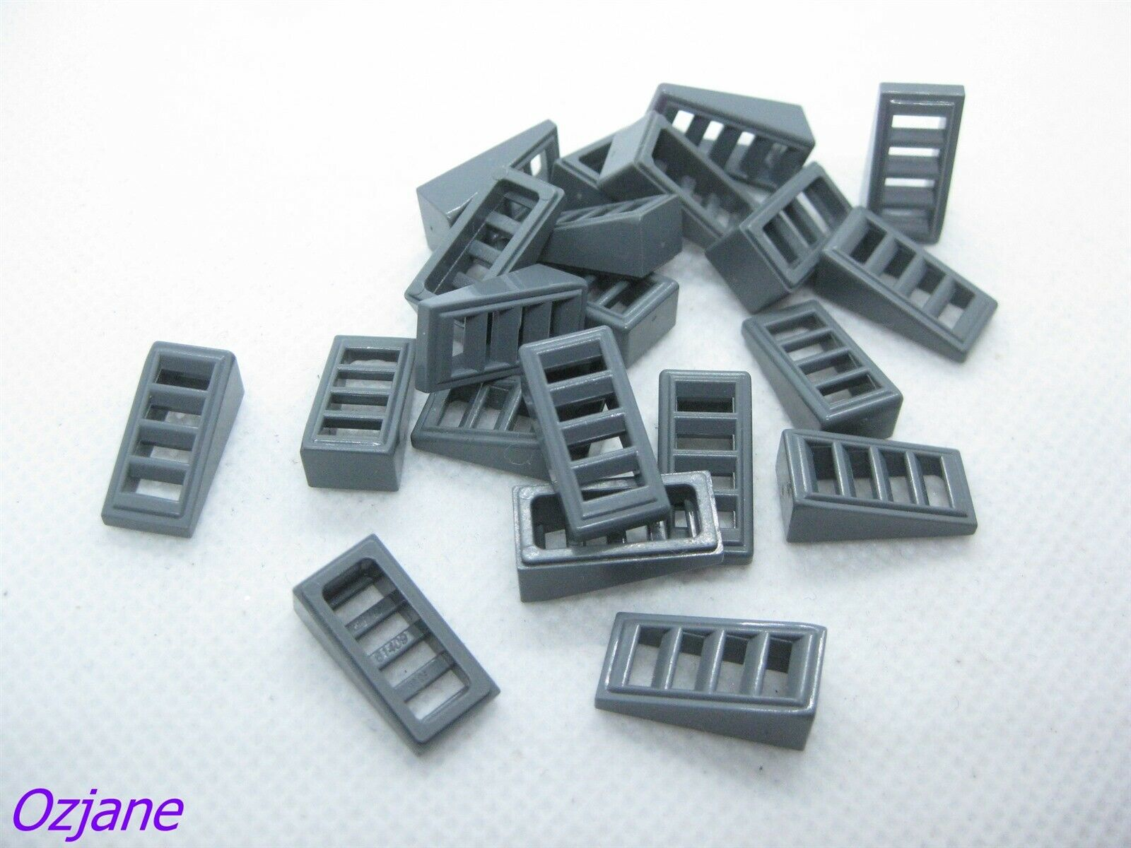 X 4 black Slope 18 2 x 1 x 2//3 with 4 Slots Part 61409 LEGO