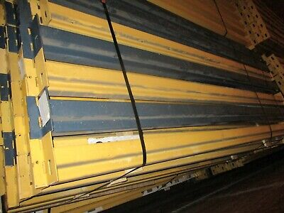Slotted Pallet Racking Single Beam 102 With 2 Clips Used