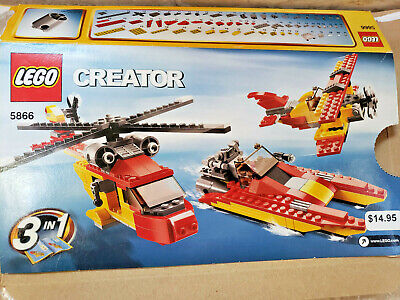 Lego CREATOR ROTOR RESCUE 3-in-1 5866, Helicopter Boat Plane, Complete w/manuals