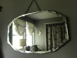Antique mirror with bevel edge