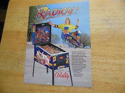 RADICAL    pinball    GAME  FLYER    SH