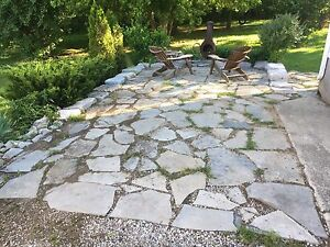 Flagstone and Armour Rock Patio