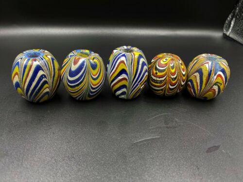 Antique  java glass beads