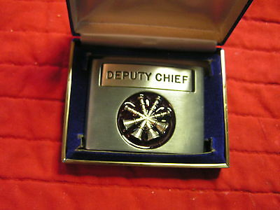 DEPUTY. CHIEF  BELT BUCKLE SOLID PEWTER