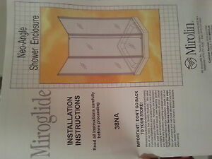 Miroglide Shower doors, new with box