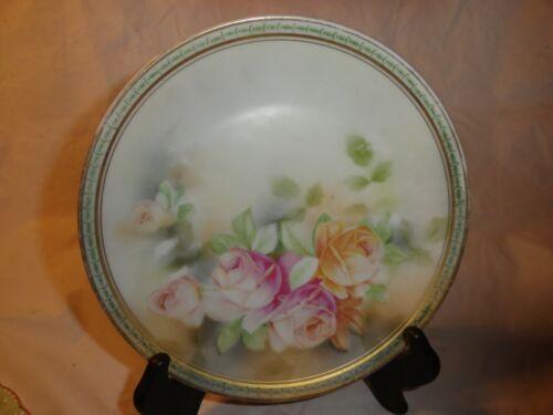 "Vintage JSV Germany Hand Painted Serving 7 1/4"" Plate"
