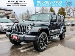 2018 Jeep Wrangler 4X4, REMOTE START, NAV, LEATHER HEATED SEATS