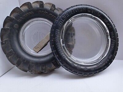 BF Goodrich Black Tire Ashtray AND United States Rubber Co. Ashtray and Knife!!!