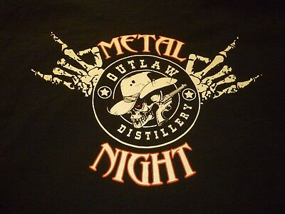 Outlaw Distillery Metal Night Shirt ( Size 2XL ) NEW!!!
