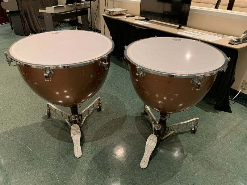 "Ludwig Universal Timpani Drums 26 and 29"" Set Of 2"