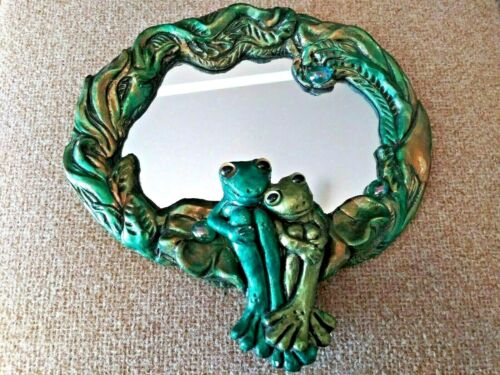 best friends FROG MIRROR signed: George wall hanging 3 - Dimentional