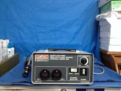 Luxtex 1300 Halogen Fiber Optic Dual Channel Light Source W Head Lamp