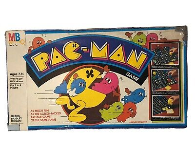 Vintage 1982 Milton Bradley Pac Man Game Missing 10 Marbles