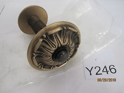 Large Antique Brass Style Flower Pull Knob Cabinet Dresser Drawer Door Handle
