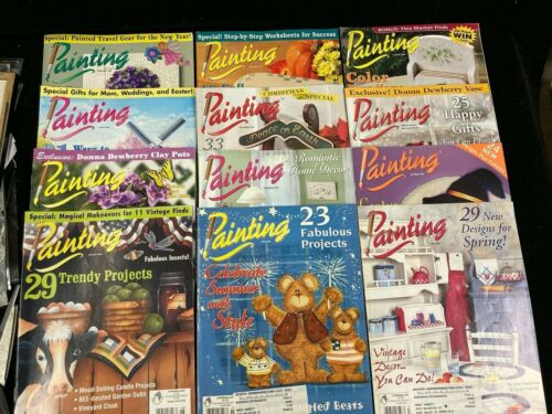 DECORATIVE ARTS PAINTING, LOT OF 12 MAGAZINES, 2003-2004, BOTH COMPLETE YEARS