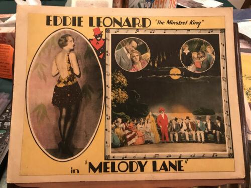 "Melody Lane 1929 Universal 11x14"" musical lobby card Eddie Leonard Josephine Dun"