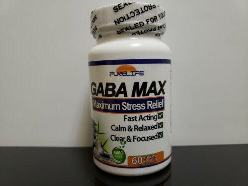 CHOOSE ONE: Purelife GABA MAX Maximum Stress Relief 60 OR 120 Grams 1