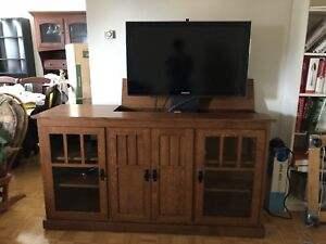 Solid Wood Mission Hideaway TV Console
