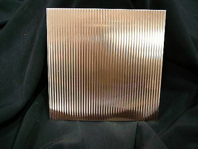 16oz Crimped Copper Sheet- 22 Ga. .0216 Thick - 6x6 - Free Shipping