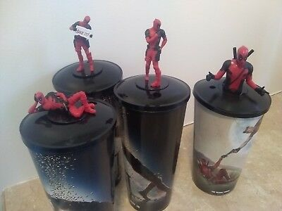 Deadpool 2 Movie Theater Exclusive Cups With Toppers   Master Set Of 4