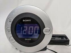 Sony Dream Machine Clock  AM/FM Radio  CD Player I Pod Docking ICF-CD31P Tested