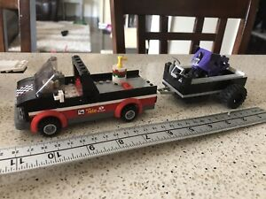LEGO truck trailer and motorcycle
