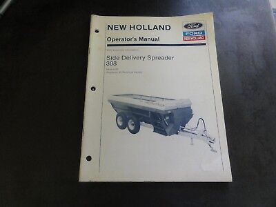 New Holland 308 Side Delivery Spreader Operators Manual  4-90