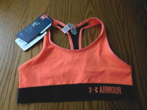 Girls Under Armour Heatgear Sports Bra Crop Top Size YMD/M NWT