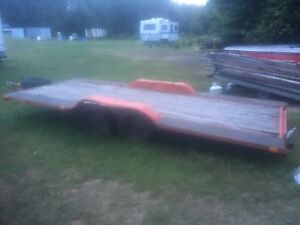 7 x 16' double axle trailer or light equipment float