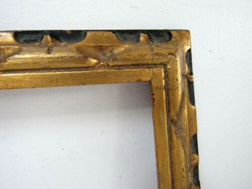 ART NOUVEAU HAND CARVED GILDED / BLACK WOOD FRAME FOR PAINTING 9 X 7 INCH (a-13)