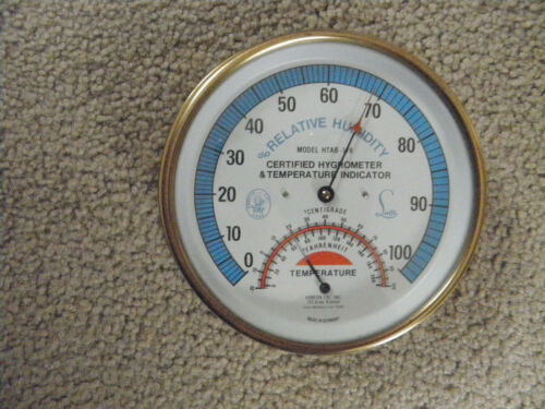 HYGROMETER &TEMPERATURE INDICATOR ,BRASS, GERMANY
