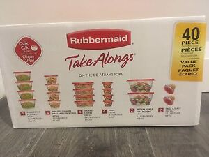 Rubbermaid take along containers