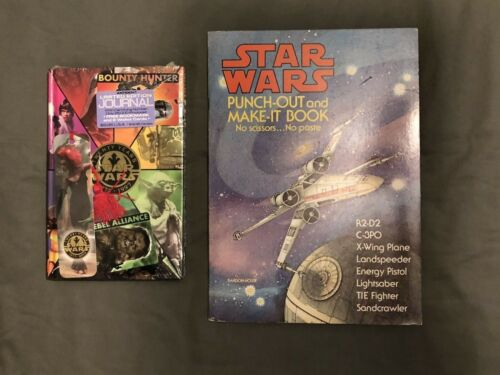 Two 2 Vintage Star Wars Books 1978 Origami & 1997 Journal FROM BEFORE SW SUCKED!