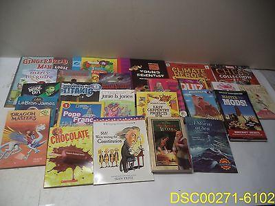 Lot Of 25 Kids Books  Fairy Bell  Scarlett Letter  Minecraft Mods  Lebron James