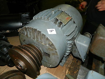 3HP General Electric AC Motor, 5K213BK307, Fr: 213T, 1155 RPM, 230/460V, Used
